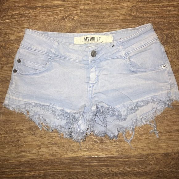 Brandy Melville cut off denim shorts Light wash, gently used cut off shorts. Only worn a couple times. Brandy Melville Shorts Jean Shorts