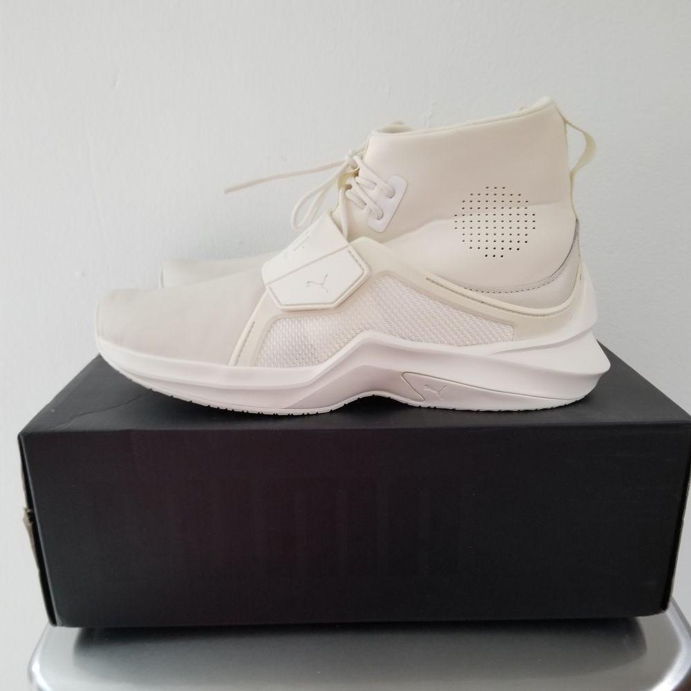 Puma X Rihanna Fenty Trainer Hi Shoe Boots Size 7.5 Womens White ... 2929ad4bd