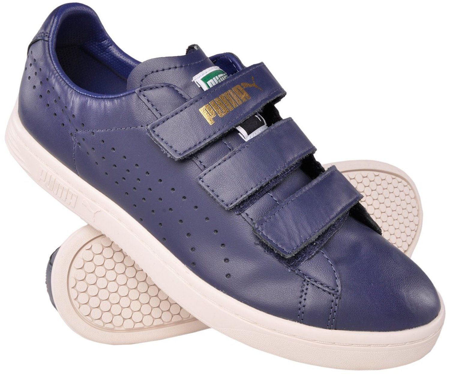 super popular bcb82 1afe8 Amazon.com: Mens Puma Court Star Leather Velcro Sneaker ...