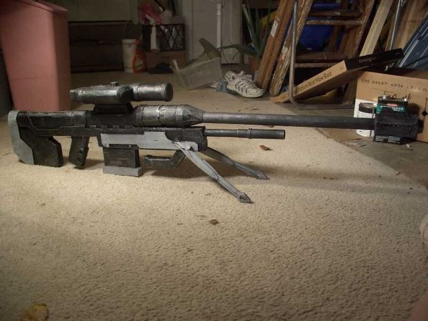 How to make a prop Halo sniper rifle.
