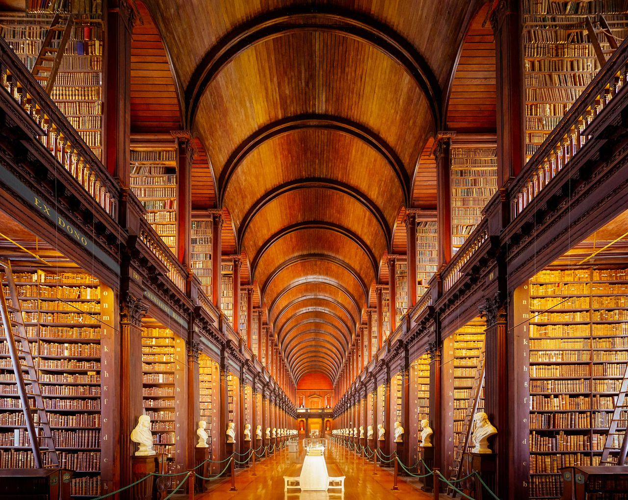The Long Room on the campus of Trinity College, Dublin feels like stepping back into the 17th century. [2048x1632] [OC]