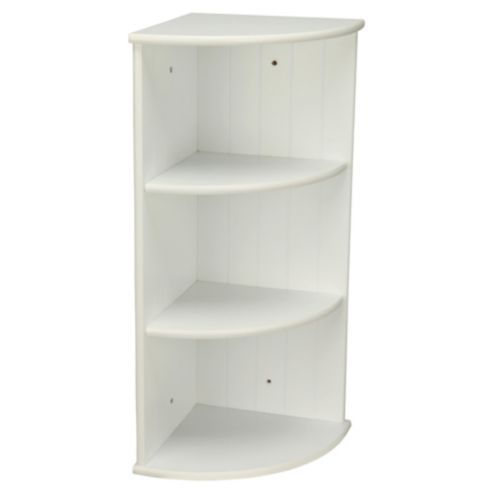 Southwold White Wood Tongue Groove Style 3 Tier Wall Mounted Corner Shelf Unit 16 00 Wall Mounted Corner Shelves Corner Shelf Unit Corner Shelves