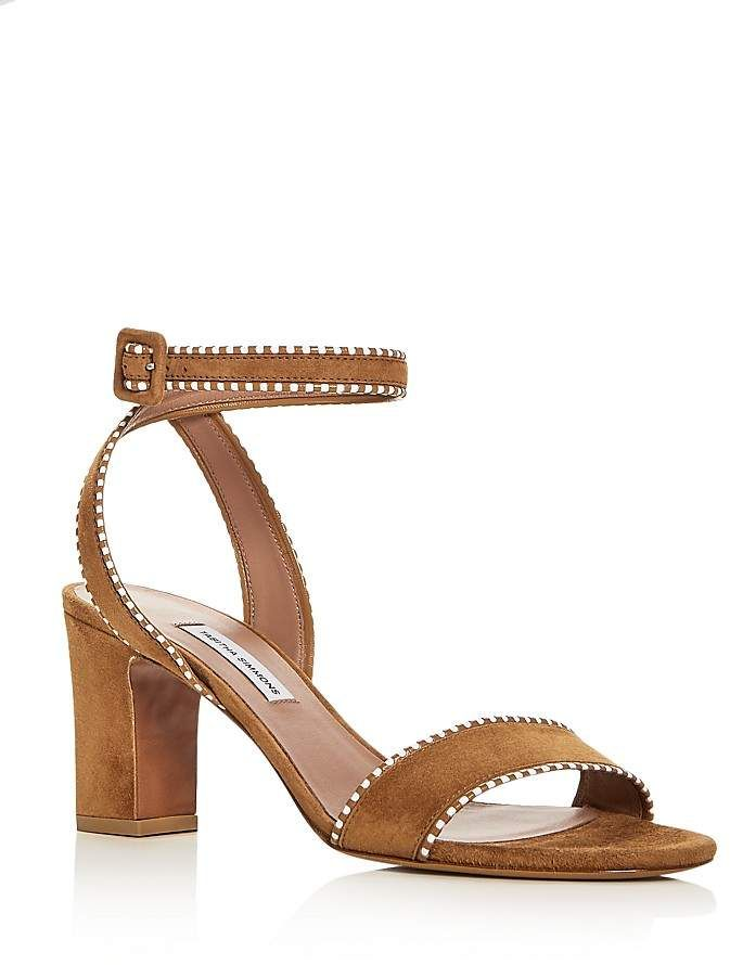 79e10359b100 Tabitha Simmons Women s Leticia Suede Ankle Strap High Heel Sandals ...