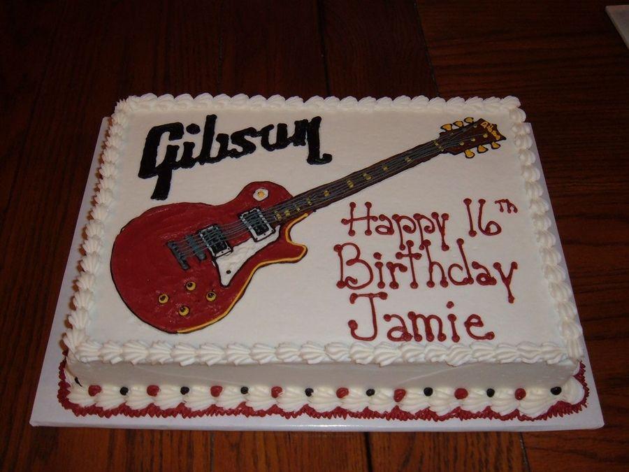 Guitar Birthday Cake Decorating Ideas Jd 5th Birthday Pinterest