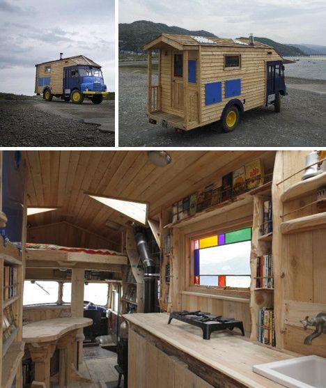 Salvaged Trailer Turned Tiny: Urban Gypsies: Wild & Wacky Housetrucks & Converted Buses