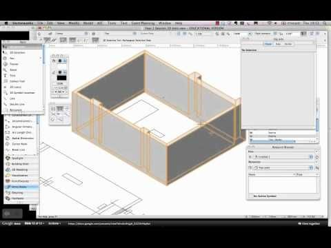 Vectorworks spotlight extrude a drawing in d youtube
