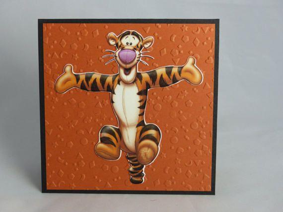 Handmade Greeting Card Disney Winnie The Pooh Tigger Birthday Card
