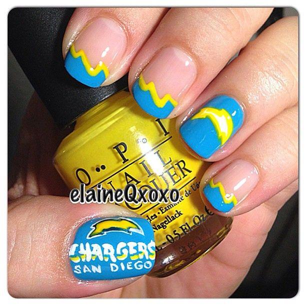 san diego Chargers by elaineqxoxo #nail #nails #nailart | Nail ...