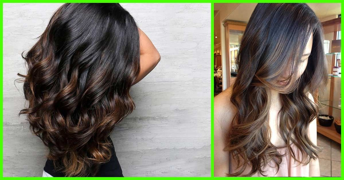 25 Balayage Hair Color Ideas For Black Hair In 2019 With Hairstyle Balayage Hair Hair Color For Black Hair Hair Color Balayage