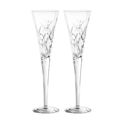 Vera Wang Duchesse Encore Toasting Champagne Flute Glass Color: Clear