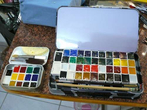 Movable Pallet Altoid Tin Watercolor Set Watercolor Kit