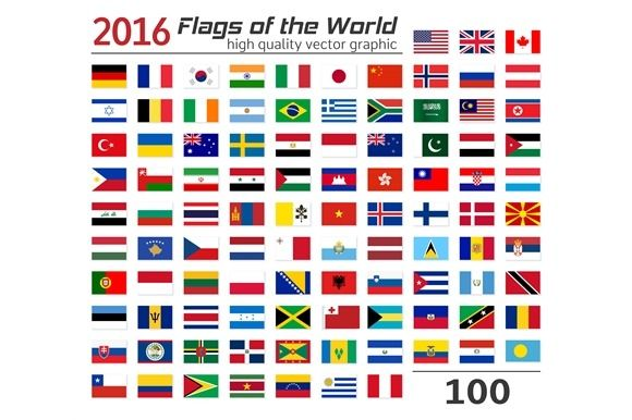 100 Flags Of Different Countries Flags Of The World Flag Different Flags