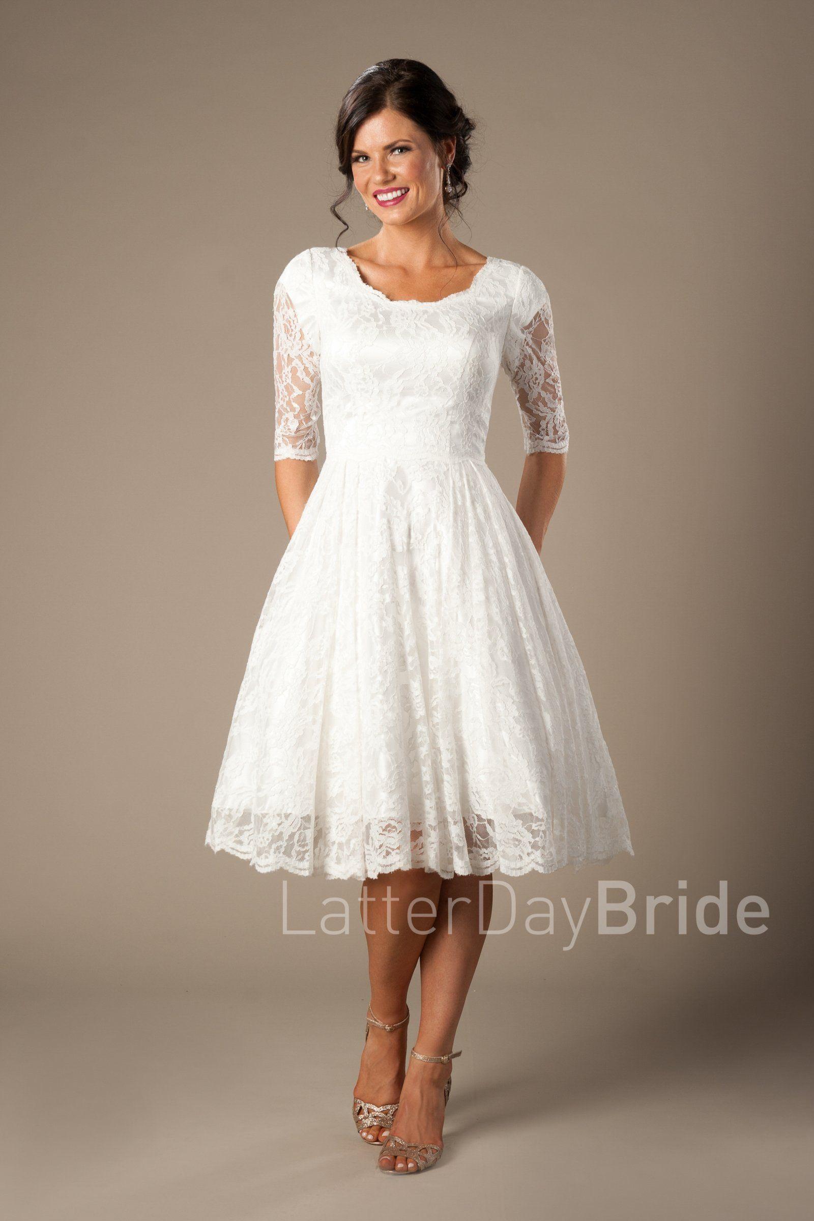Quinn Tea length wedding dress, Wedding dresses under
