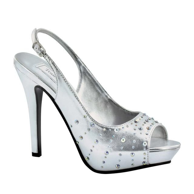Womens Touch Ups Brooke Pumps Silver