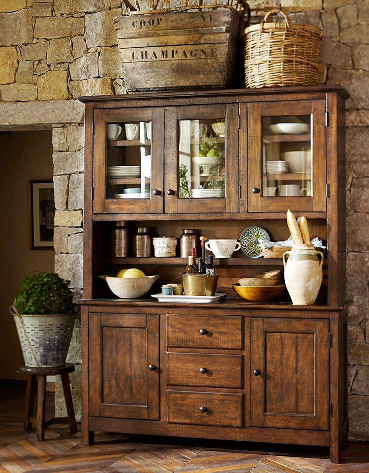 Pottery barn cocina remodelacion pinterest for Aparadores para cocina