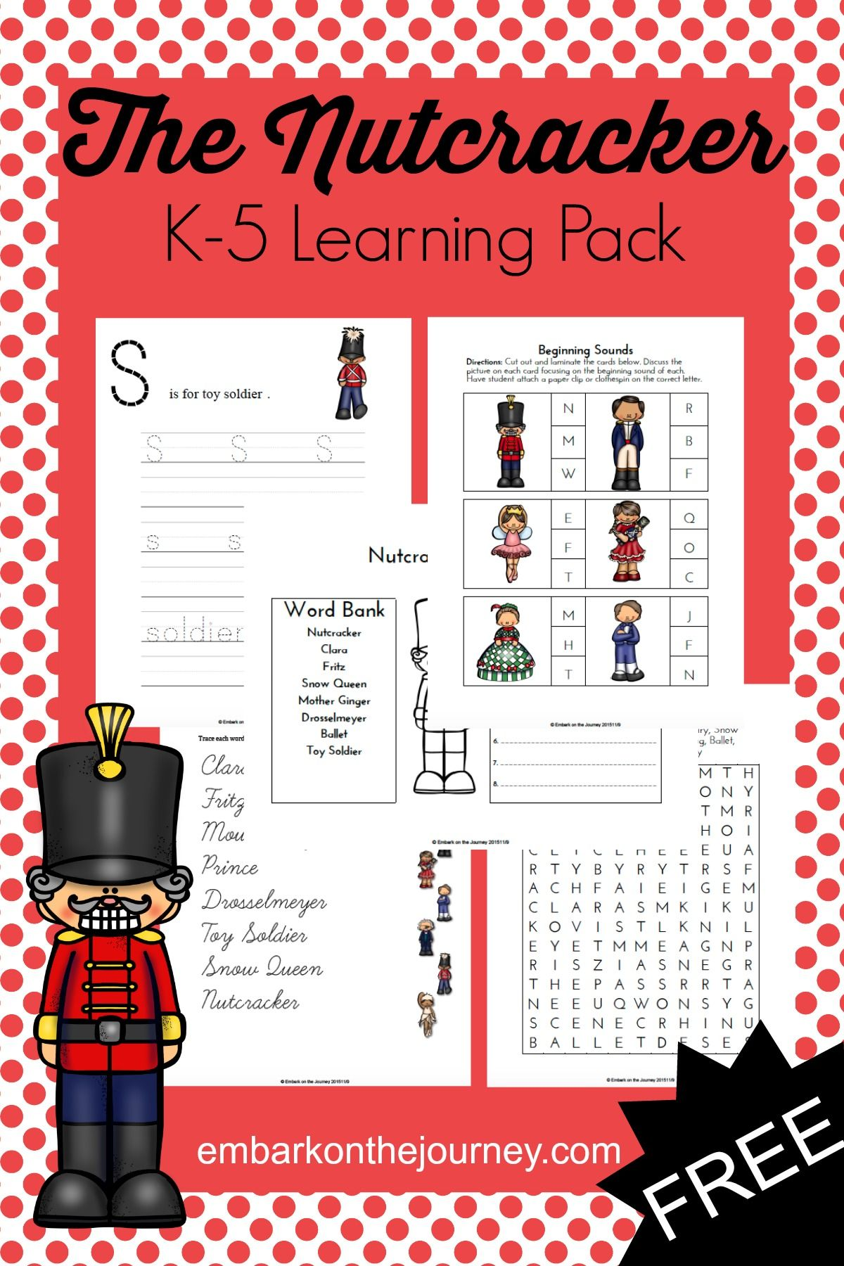 70 Pages Of Nutcracker Printables For Grades K 3