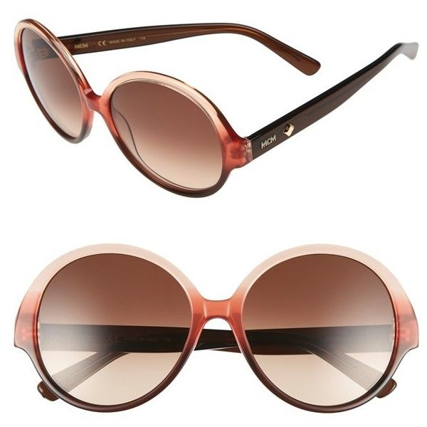 Women's Mcm 58Mm Round Sunglasses ($310) ❤ liked on Polyvore featuring accessories, eyewear, sunglasses, round frame glasses, round sunglasses, mcm and round frame sunglasses