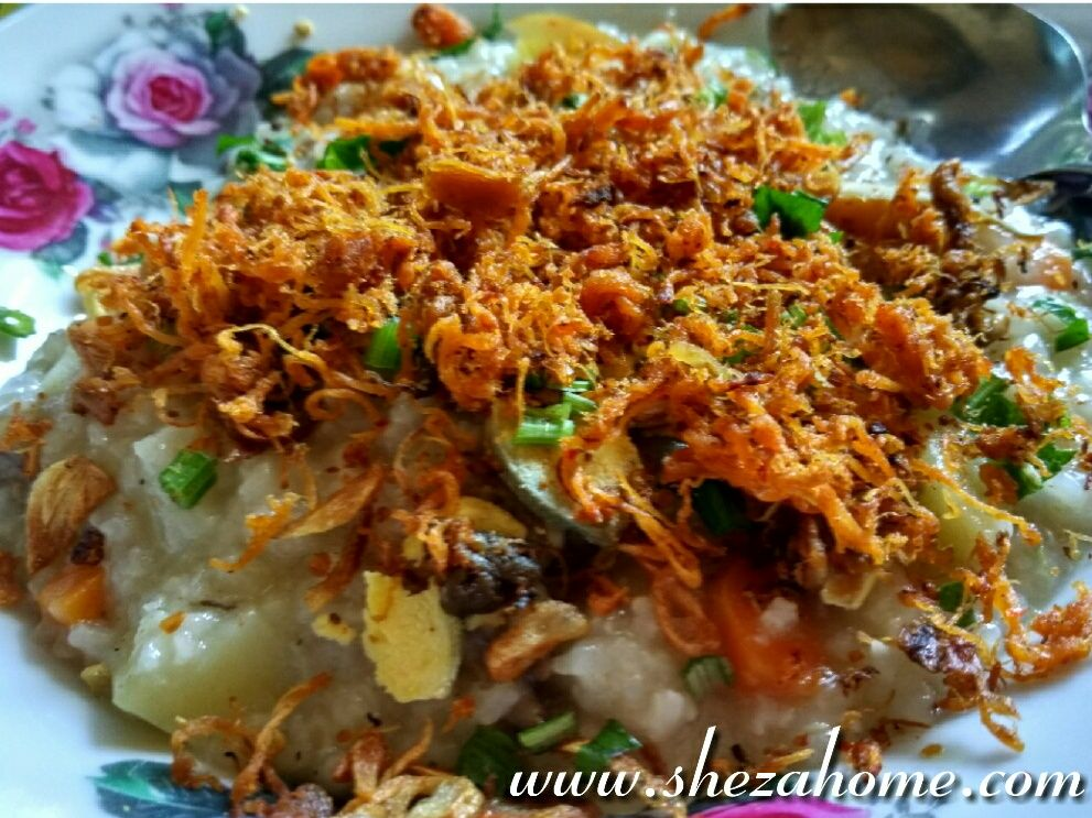 Bubur Ayam Chicken Porridge Menu Sarapan Sehat Resep Memasak