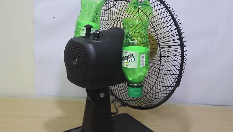 How To Make An Air Conditioner Using Plastic Bottles And A Fan In