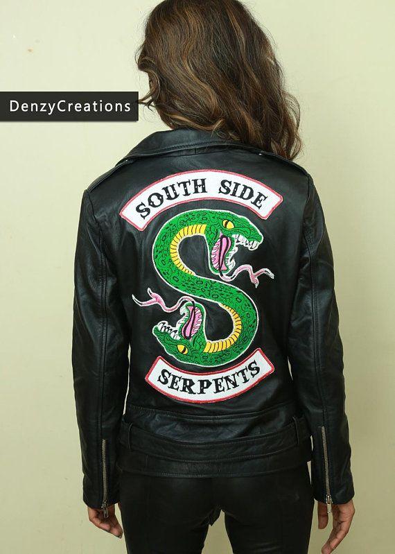 magasin en ligne 26b8f b447d Southside serpientes cuero chaqueta Riverdale | riverdale ...