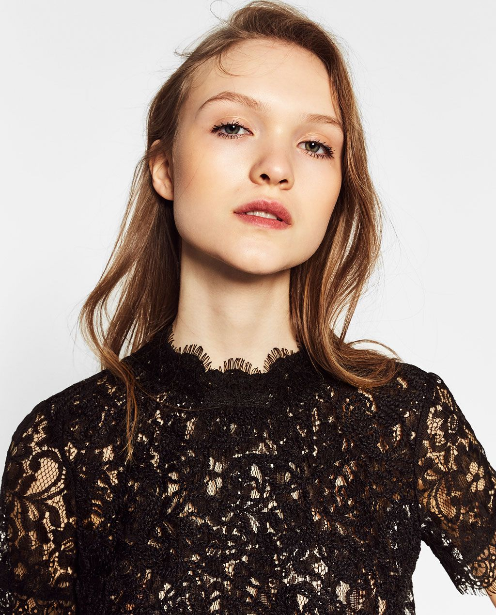 ZARA - COLLECTION SS/17 - EMBROIDERED LACE T-SHIRT