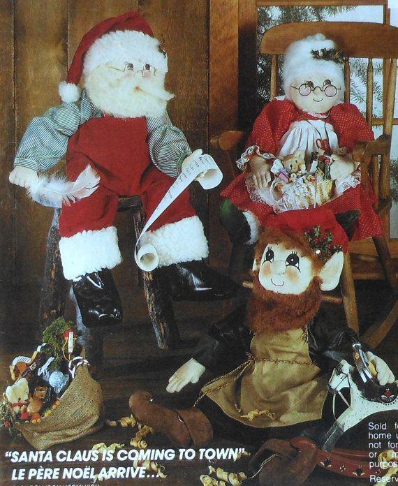 Mueco De Santa Claus Y Seora Claus Muecas Por Latenightcoffee