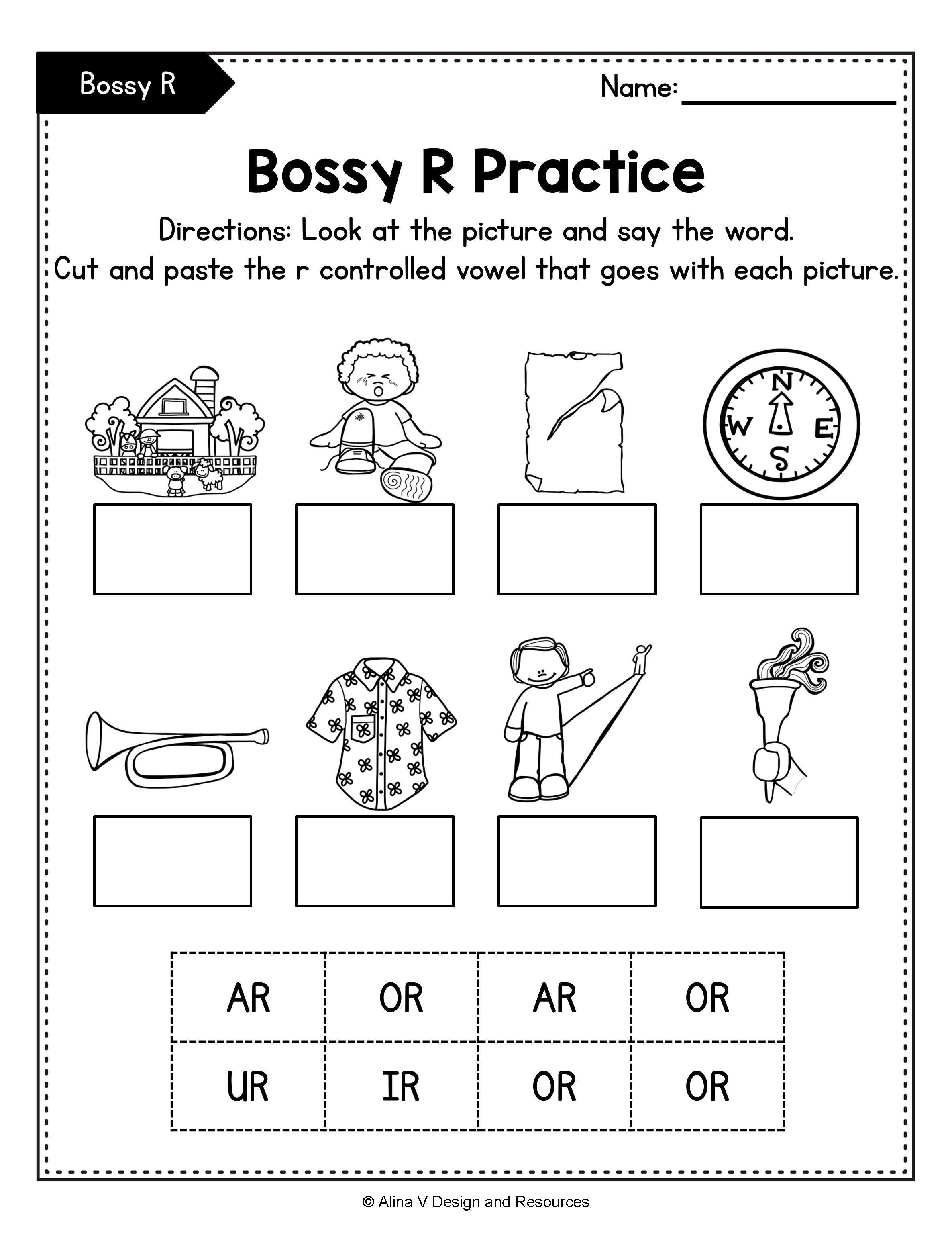 R Controlled Vowels Worksheets Mega Bundle Bossy R