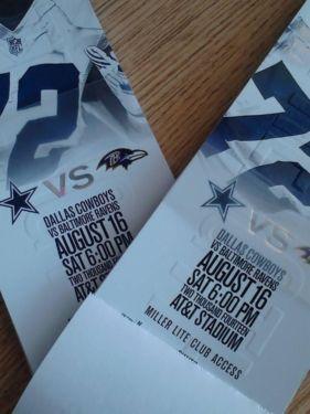 Season Tickets For Dallas Cowboys for (2)