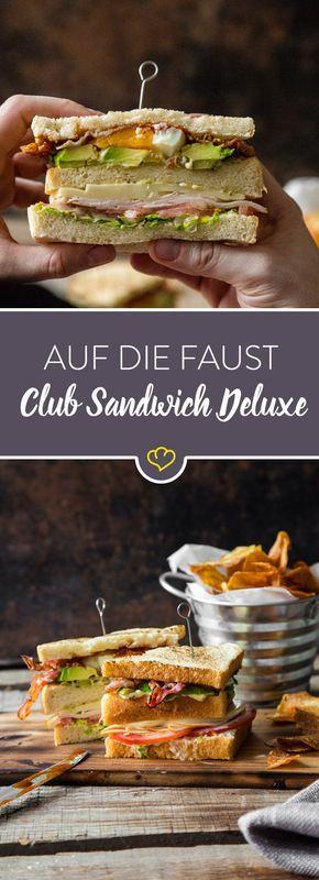 Du hast mal wieder Lust auf einen Klassiker? Da kommt das Club Sandwich Deluxe gerade recht. Egal ob als Snack oder zum Bier. Dieses Fingerfood geht immer. #sandwichrecipes