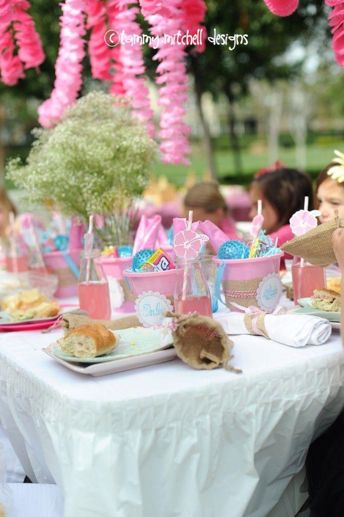 Beach Pail Party Favors Beach Party Luau In Pink Aqua For A