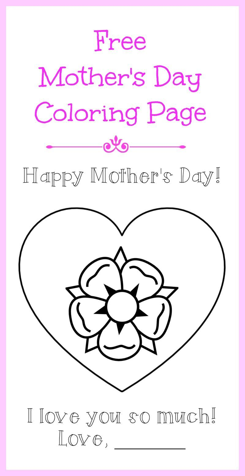 Mother's Day coloring page FREE printable! Download and