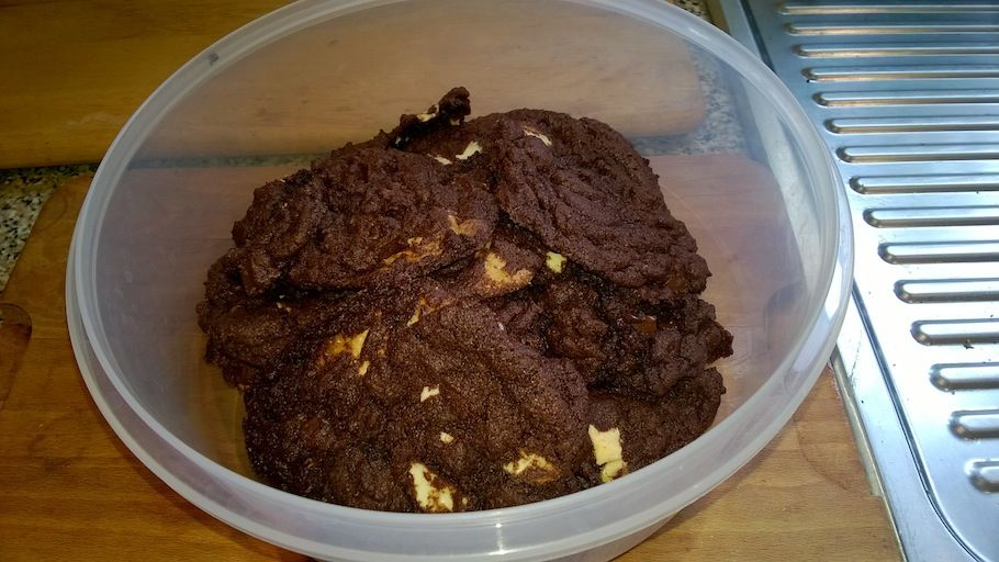 For my birthday weekend, I have baked Double Chocolate Chip Cookies, go me!