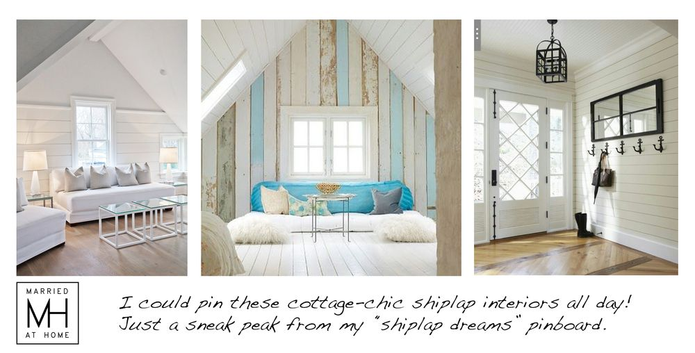 Shiplap Is A Type Of Wooden Interior Wall Paneling Identified By The  Distinctive Channels In Between The Boards. Description From  Marriedathome.com.