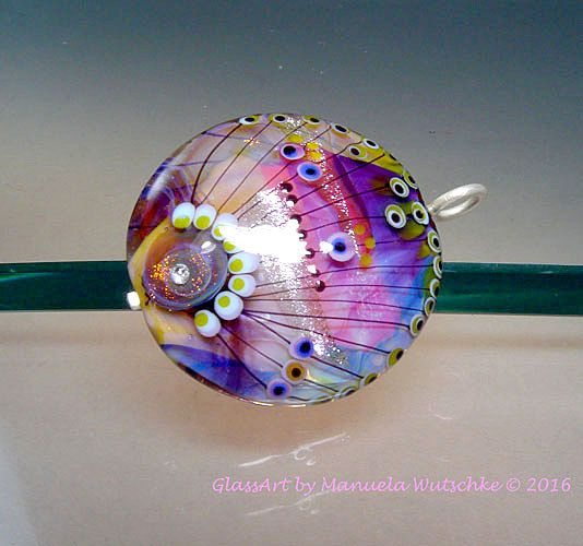 Artist Glass Lampwork Bead Pendant Glass and by manuelawutschke