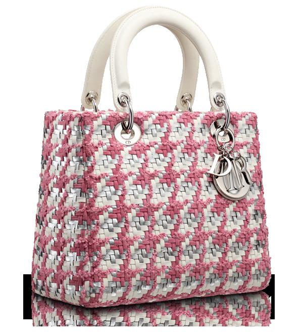 Lady Dior Latte And Rose Magnolia Plaited Leather Tweed Lady Dior Bag Sac A Main Sacs Dior Sac Diy