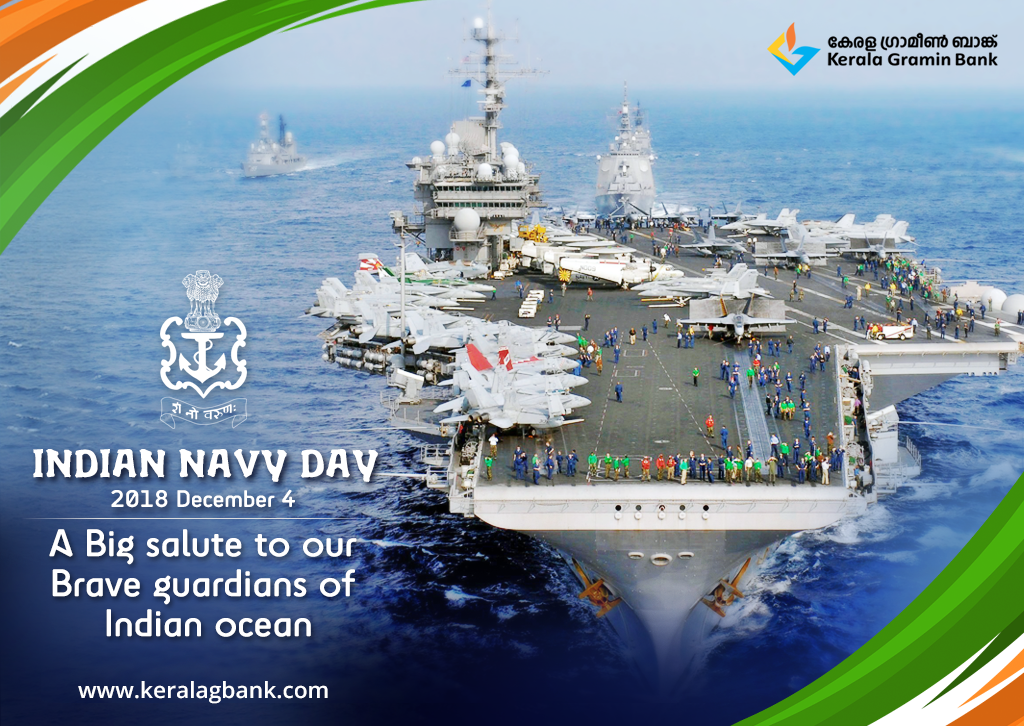 Let Us Salute All The Navy Men For Their Bravery Dedication And Patriotism Happy Indian Navy Day 2018 Keralagraminbank Indian Navy Day Navy Day Indian Navy