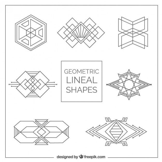 Les formes g om triques pack dans le style art d co art for Deco forme geometrique