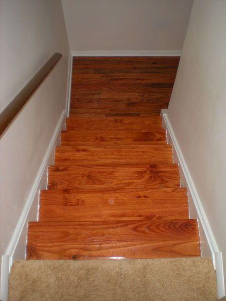 Best Refinishing An Hardwood Staircase Hardwood Stairs Hardwood Refinished 640 x 480