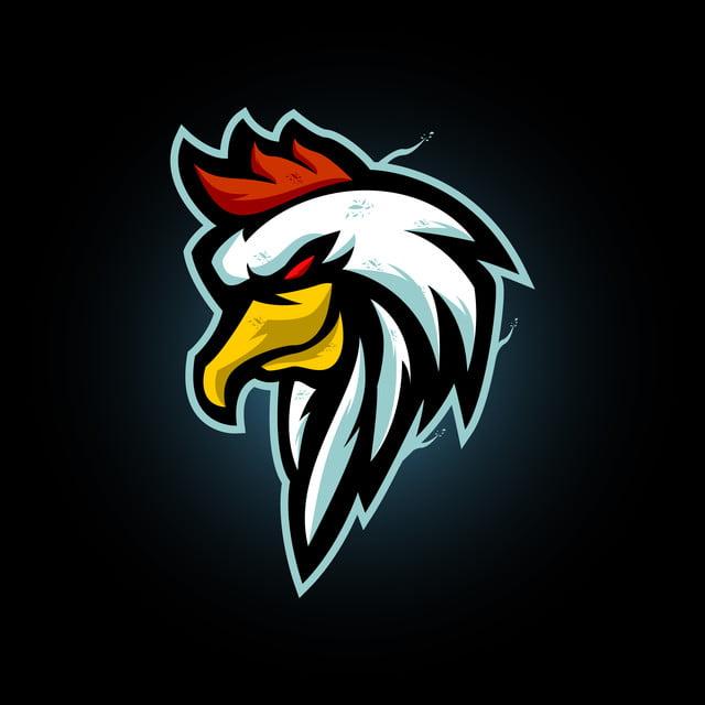 Rooster Head Mascot Logo Chicken E Sports Logo Desain Logo Olahraga Logo Hewan Ilustrasi Ikon
