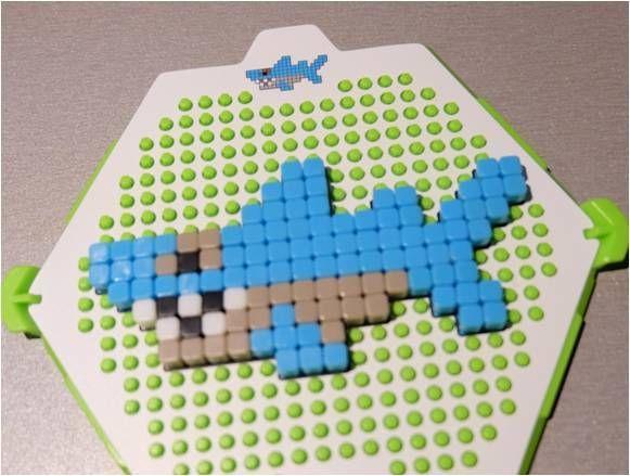 Qixels comme des perles mais sans repasser qixels comme des perles mais sans repasser - Modele dessin requin ...