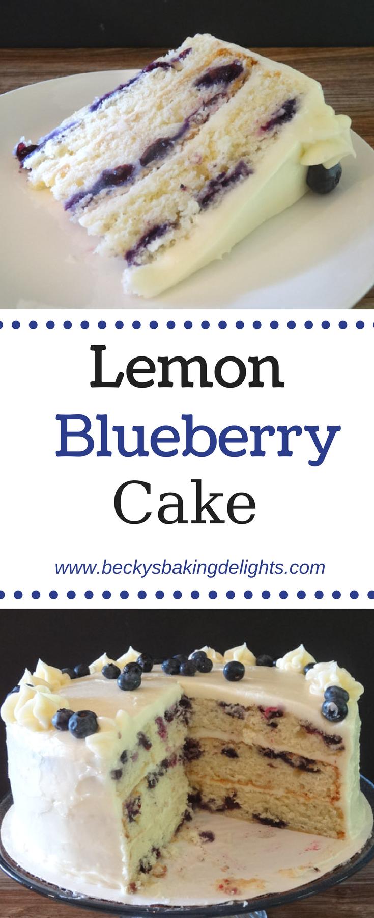 Lemon Blueberry Cake Recipe Blueberry Cake Recipes Blueberry Lemon Cake Food