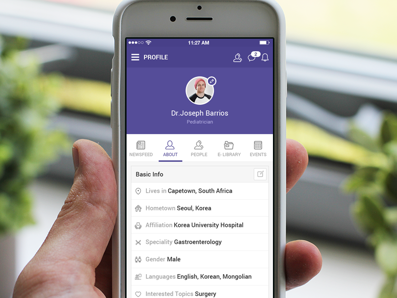 Image result for app profile page design
