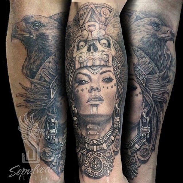 Mujer Aguila Aztecwoman Aztec Aztecwarrior Mujerazteca Guerreraazteca Tatuajedeazteca Aztec Tattoos Sleeve Aztec Tattoo Aztec Tattoo Designs