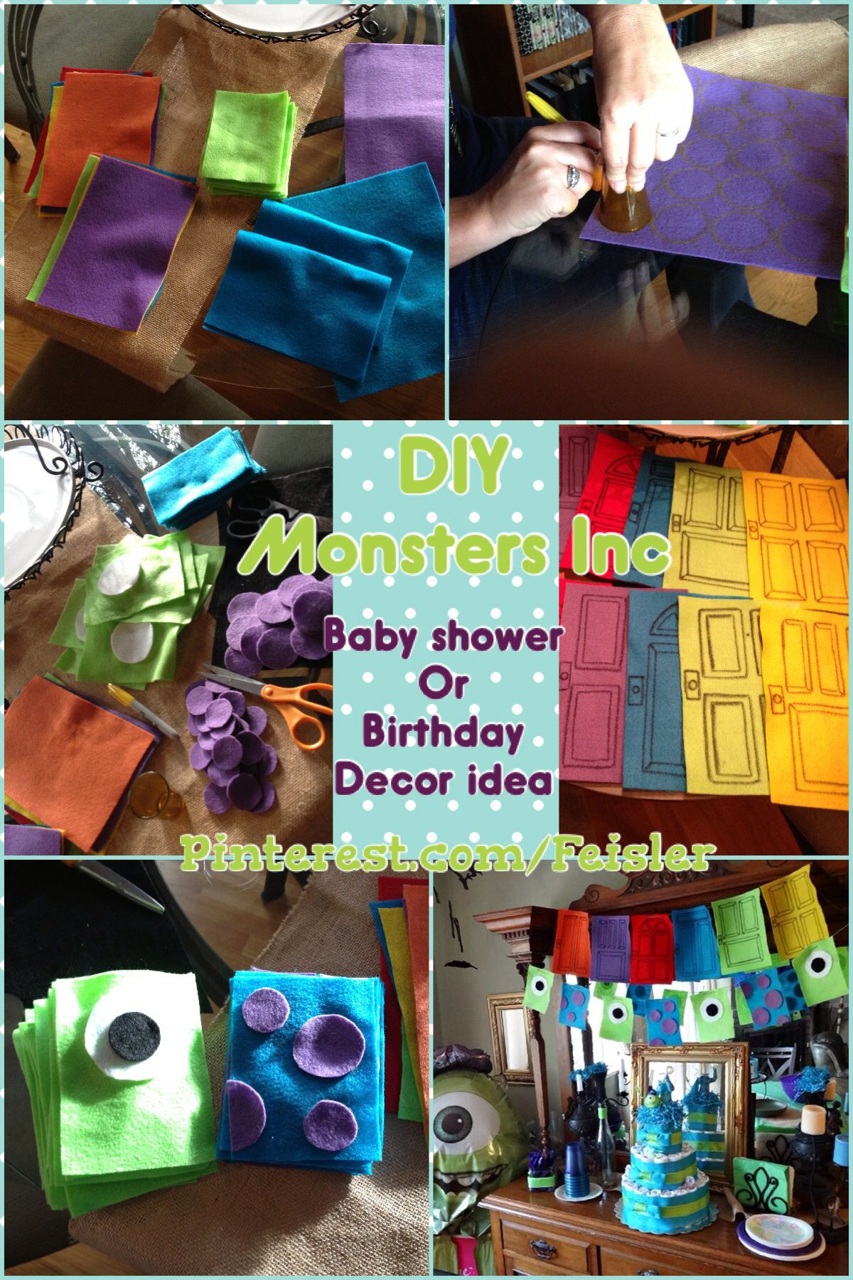Do it yourself diy monsters inc birthday or baby shower decoration do it yourself diy monsters inc birthday or baby shower decoration idea solutioingenieria Images