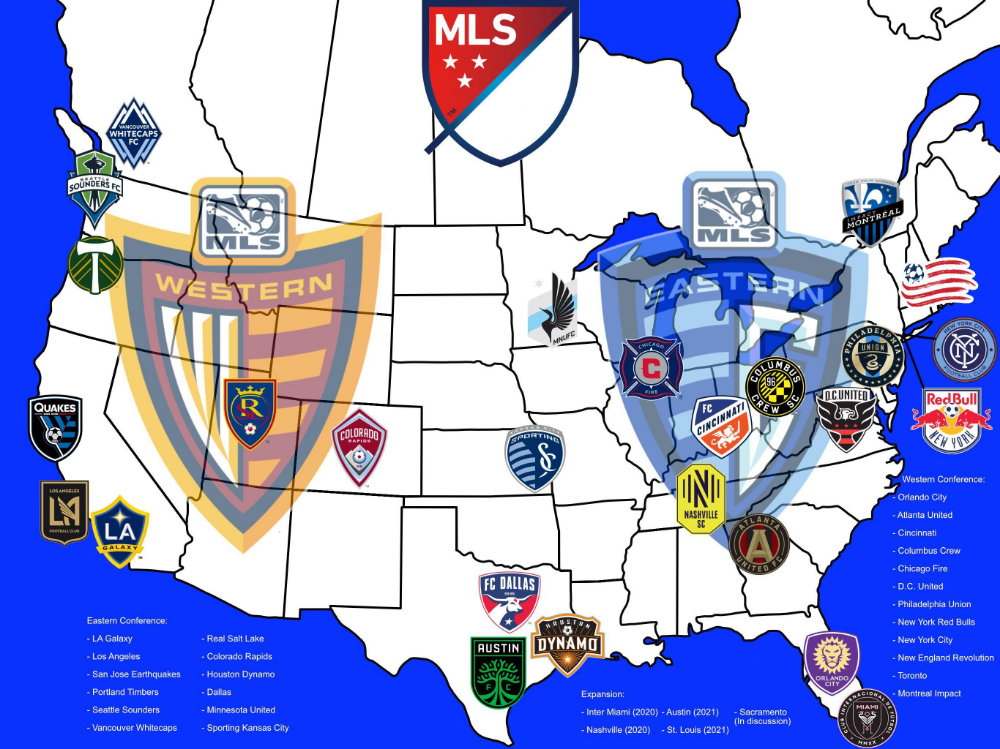 Current And Future Major League Soccer Mls Clubs Major League Soccer League Major League