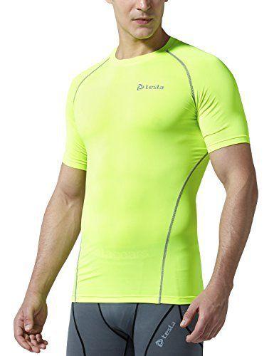 TM-R13-CTGZ_Medium j-L Tesla Men's Cool Dry Compression Baselayer Short Sleeve T Shirts R13 - http://www.exercisejoy.com/tm-r13-ctgz_medium-j-l-tesla-mens-cool-dry-compression-baselayer-short-sleeve-t-shirts-r13/athletic-clothing/