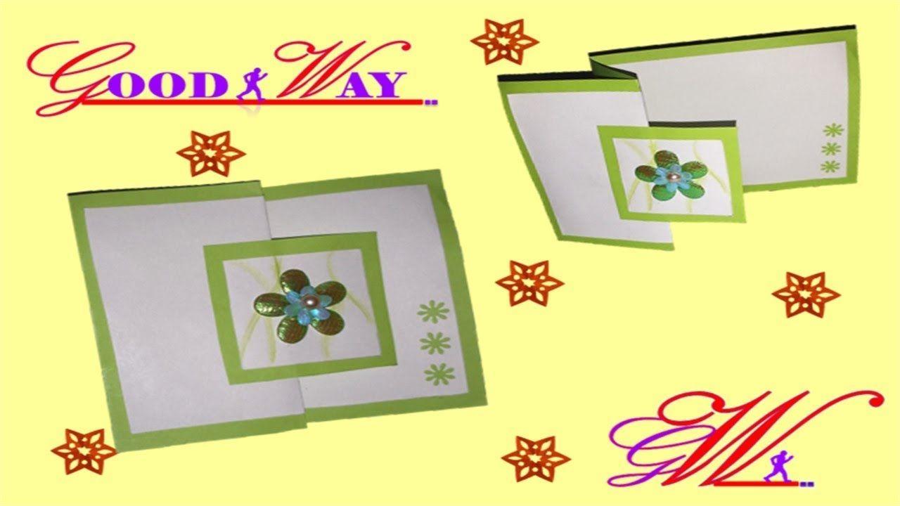 طريقة عمل بطاقة تهنئة أو دعوة أو مطوية 30 Greeting Card Or Invite Hand Art Diy And Crafts Crafts
