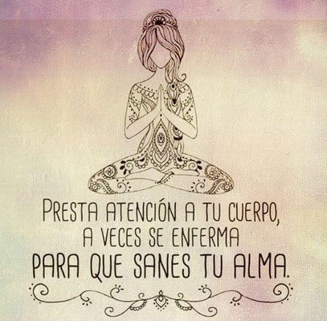 Presta atención a tu cuerpo...