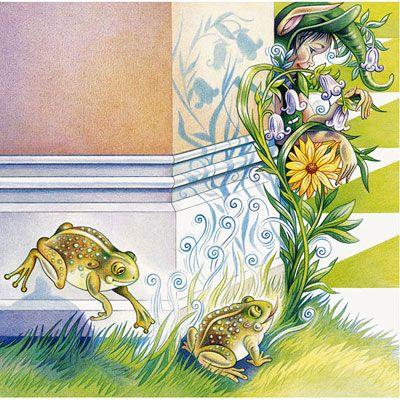 Sapos felizes, ilustração Sylvie Daigneault.