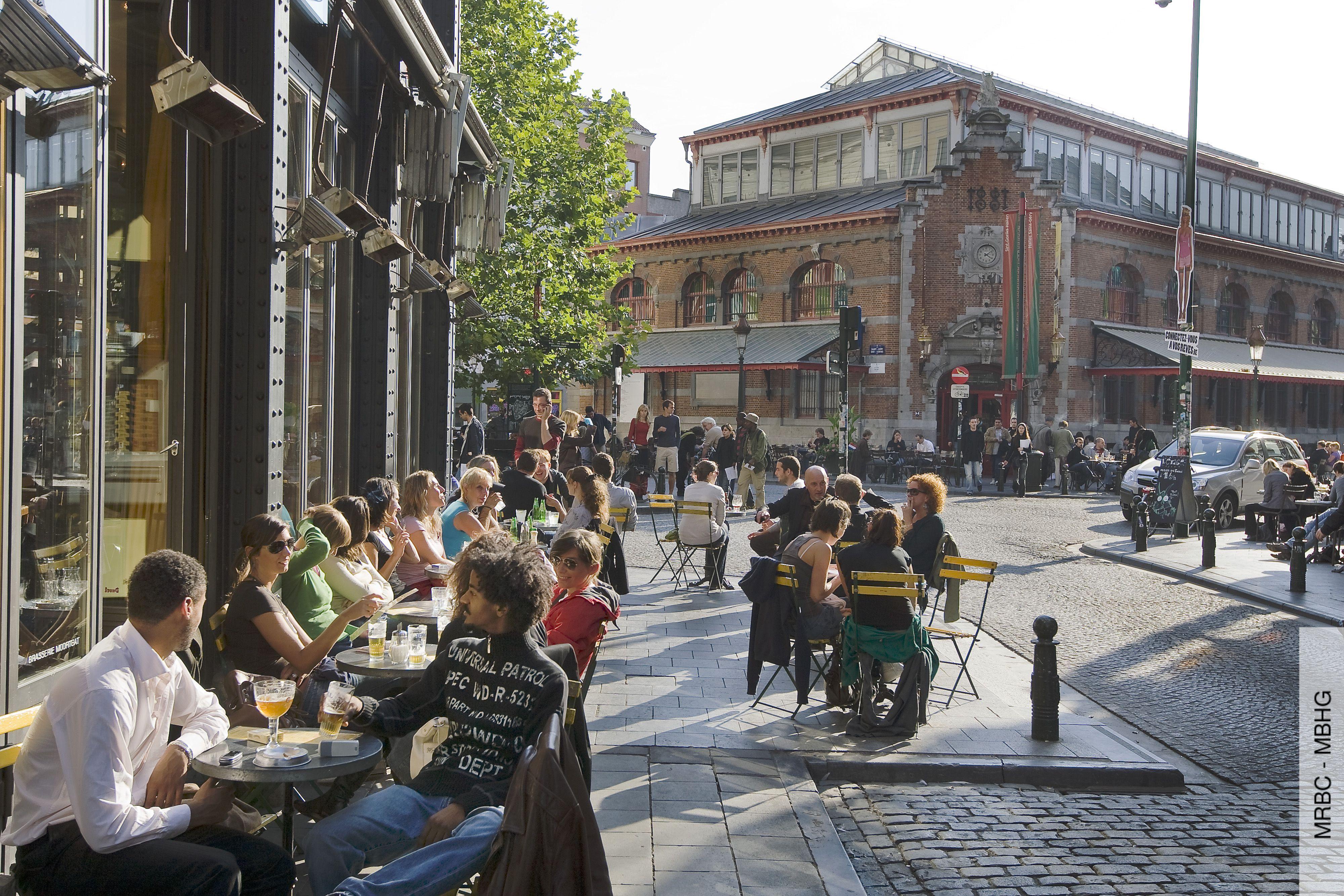 Halles Saint Gery Place Saint Gery 1 Bruxelles Sint Gorikshallen Sint Goriksplein 1 Brussel Belgie Nachtleven Brussel